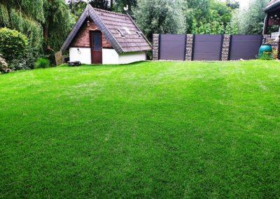 Rollrasenverlegung Privatgarten