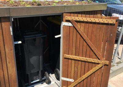 Dachbegrünung Mülltonnenbox
