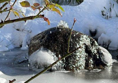 Quellstein Winter